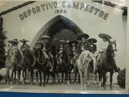 The Charros on 1950's at Deportivo El Campestre, Tijuana, Baja California, Mexico.