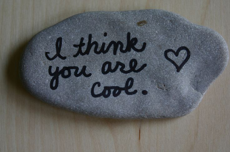 super easy & cute little present. you could even have a bunch of these in a dish for daily reminders <3