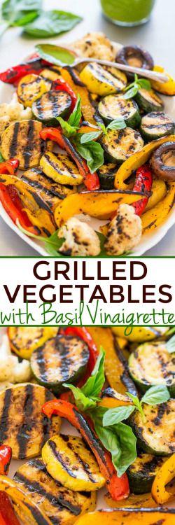 GRILLED VEGETABLES WITH BASIL VINAIGRETTEReally nice recipes. Mein Blog: Alles rund um die Themen Genuss & Geschmack Kochen Backen Braten Vorspeisen Hauptgerichte und Desserts