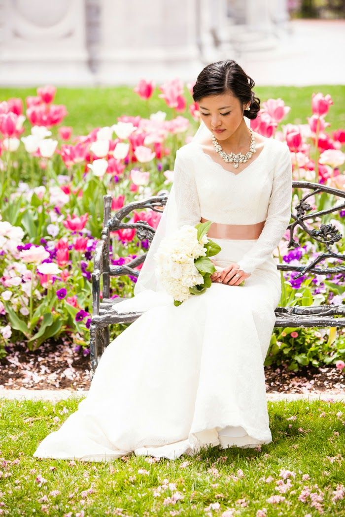 239 best images about Modest Wedding Gowns on Pinterest ...