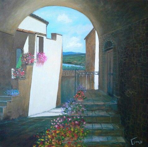 Da Gambatesa 80x80 cm Luigi Torre painter 2016