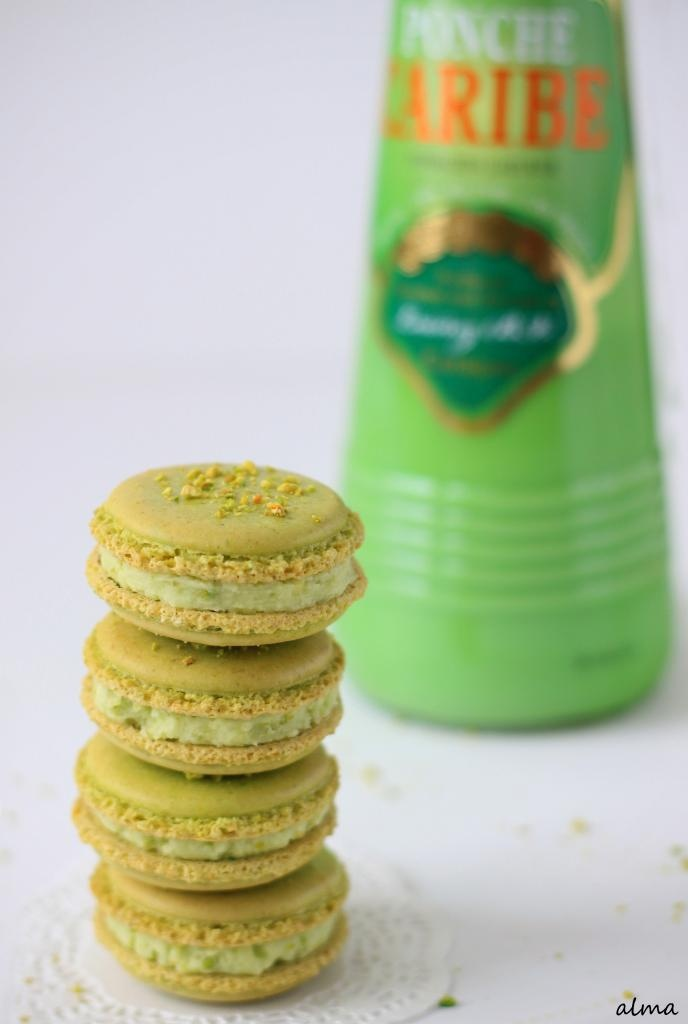 Pistachio - Cocoa Nib Macarons With Bourbon Buttercream ...