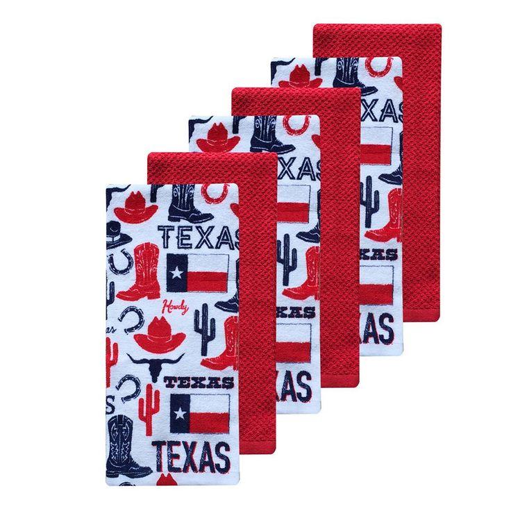 The Big One® Texas Kitchen Towels - 6-pk., White