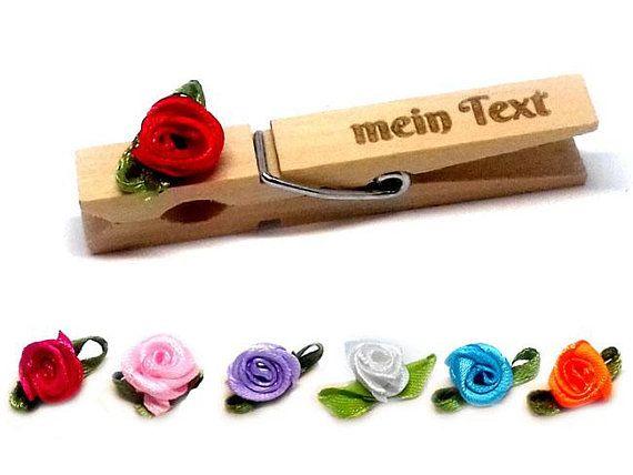 Glubbal Glupperl Rose Text Etsy Platzkarten Hochzeit Hochzeit Wascheklammern