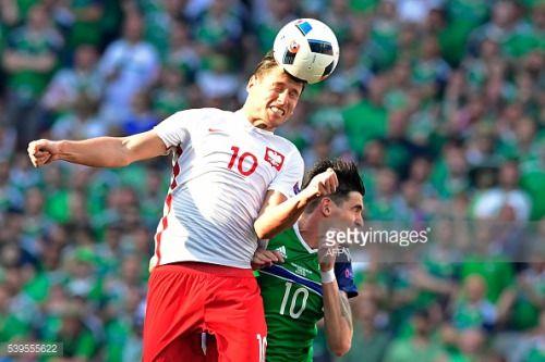 Poland's midfielder Grzegorz Krychowiak (L) Northern... #brelkantonaargau: Poland's midfielder Grzegorz Krychowiak (L)… #brelkantonaargau