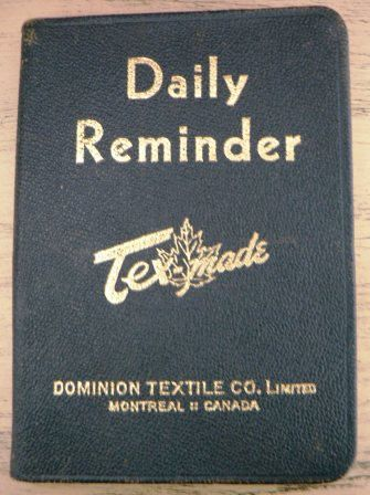 vintage ephemera   1948 mint vintage leather DAILY REMINDER by Inktiques, $25.00