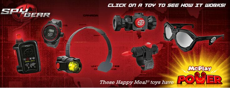 2014 Spy Gear McDonalds Happy Meal Toys http://youtu.be/6hOjBc1VAUs