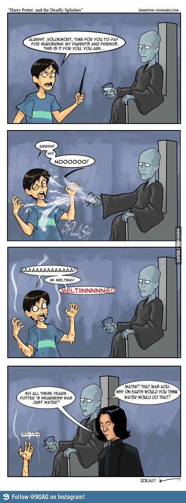 The secret of Harry Potter's weakness revealed!! Hahaha!