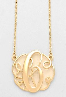 34 best monogram necklaces images on pinterest initial necklaces monogram initial necklace 15 letter c pendant gold chain aloadofball Gallery