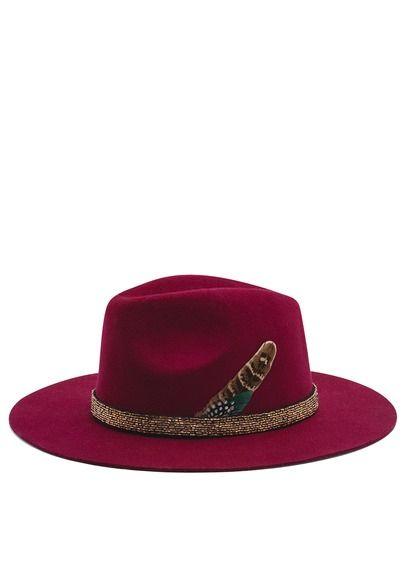 Chapeau en laine brodé de strass by HIPANEMA