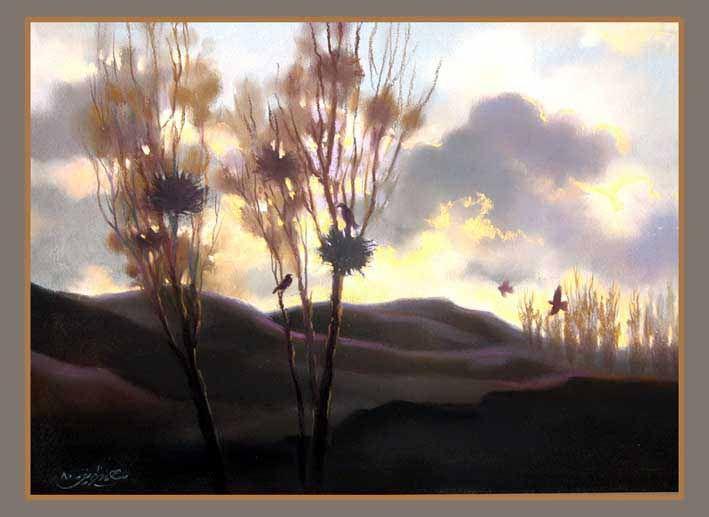 landscape- pastel- orginal