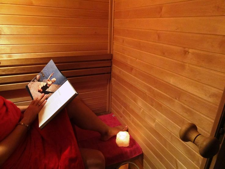 It is nice to sit in infrared sauna and read some newspaper or interesting book. www.saunalahja.fi