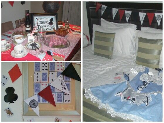 Sharon' Wonderland (Alice in Wonderland theme hens night put together by 3 girls using op shopping & homemade props