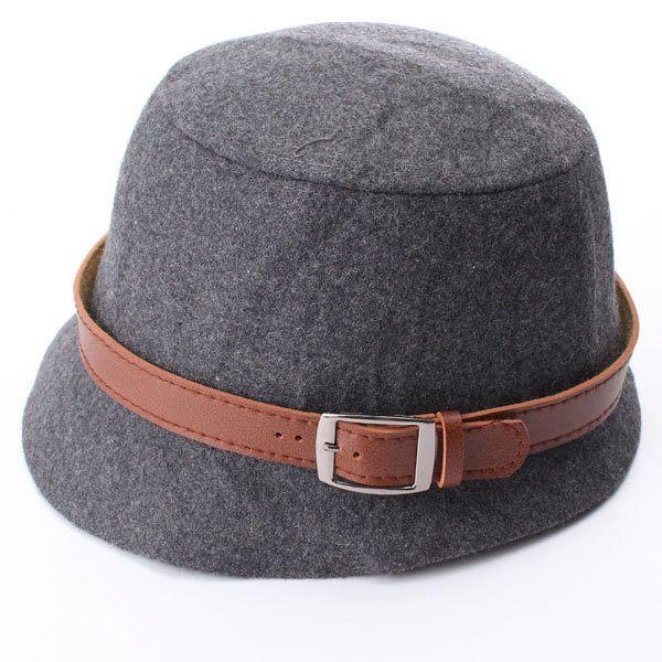 Vintage Women Cloche Wide Brim Wool Felt Bowler Fedora Hat Bucket Cap