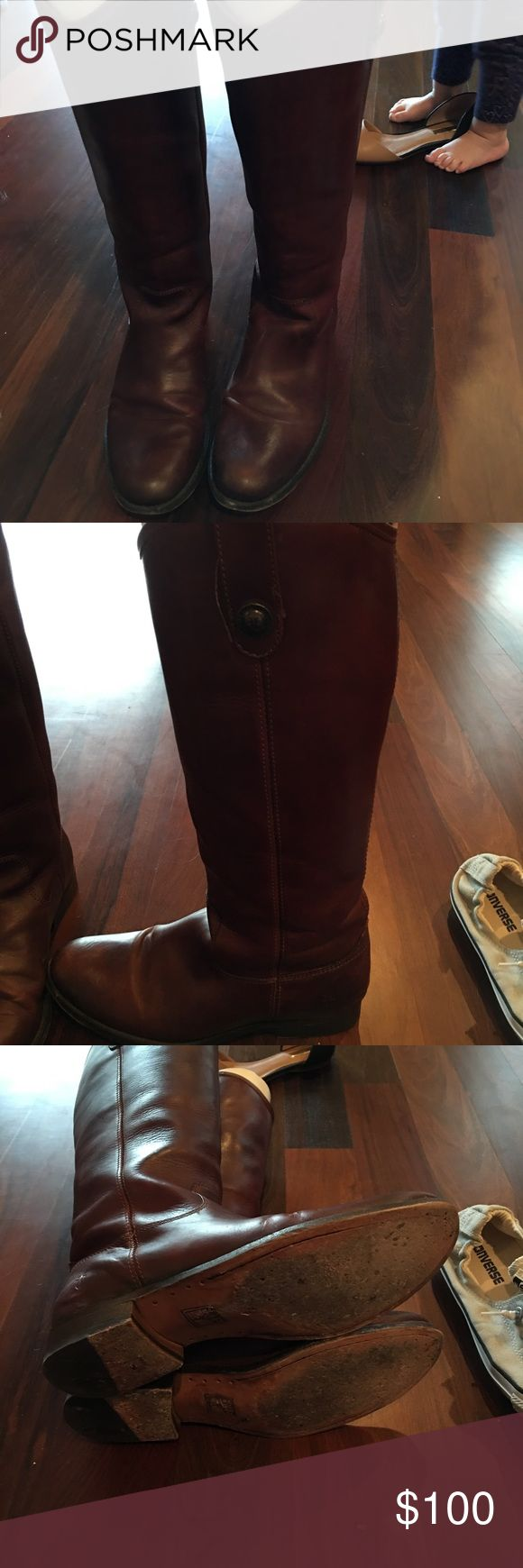 Frye Melissa button boots Frye Melissa button boots in EUC Frye Shoes Heeled Boots