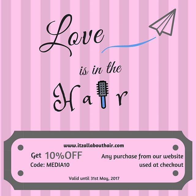 Love is in the Hair           — Love is in the Hair  Receive 10% off already discounted Haircare items for your mum  Ends 31st May 2017 Use code Media10  Free Delivery Australia Wide