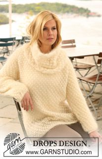 "Knitted DROPS jumper with berry pattern in ""Vienna"". Size S-XXXL. ~ DROPS Design"