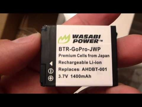 Wasabi Power Battery and Charger Kit for GoPro AHDBT-001 and GoPro HD HERO, HERO2 Cameras Review.  The are the best batteries for GoPro cameras and they last longer than the GoPro brand battery!!!