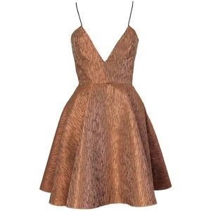 Joana Almagro Vionette Bronze Low Neck and Low Neck Dress