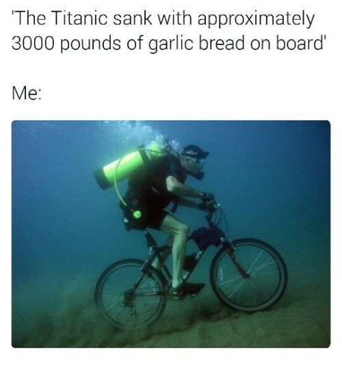 But the garlic bread would be soaked so then it would be soggy....heh I'm good