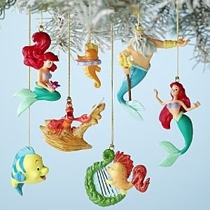 129 best disney christmas decorations images on pinterest for Ariel christmas decoration