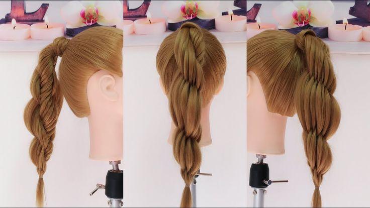 Coleta con Trenza de Espiga Circular / Twisted  Fishtail Braid Hairstyle