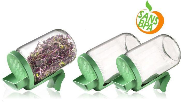 Graines à germer et germoirs : germoirs en verre