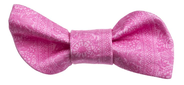 Baby pink Doggy Style bow in our Taimi-print || Vaaleanpunainen Taimi-kuosi, Doggy Style-rusetti