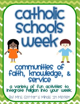 These are some fun activities for Catholic Schools Week that you can integrate into your learning throughout your school week. Some of the packet includes:Find a Religion Word, Acrostic Poem, Bulletin Board Writing Activity, Writing Prompts, Thank You Card, Saint Word Search, Making Words, Vocabulary Word of the Day, and an art project.I hope you and your students enjoy this packet.Follow my store to keep updated on more religion activities as they are added.