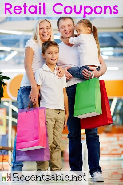 Here is a BIG list of Retail coupons! Print retail couponsfor Macy's, Toys R Us, Target,Kohl's,Michaels, Big 5 Sporting Goodsand more!