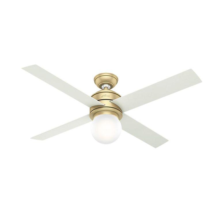The 25 best ceiling fan controller ideas on pinterest outdoor hunter fan hepburn brass 52 inch ceiling fan with 4 white grainaged oak aloadofball Images