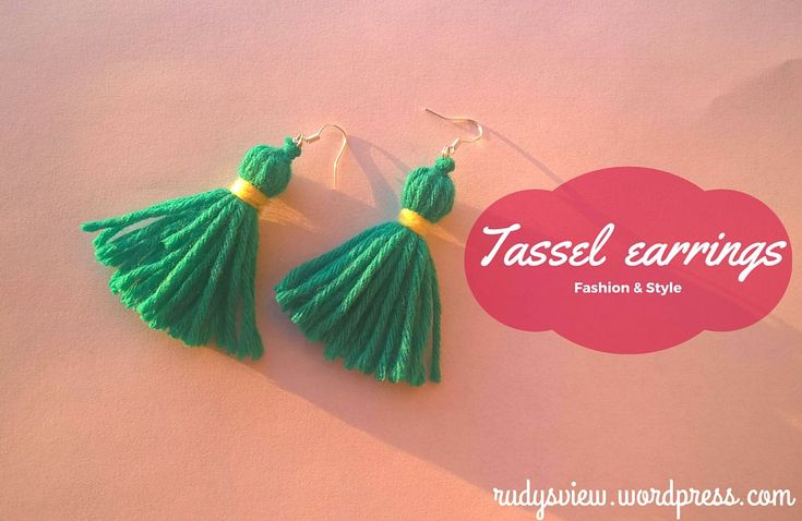 Tassel earrings made from yarn