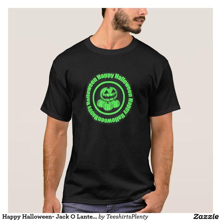 Happy Halloween- Jack O Lantern Green T-Shirt