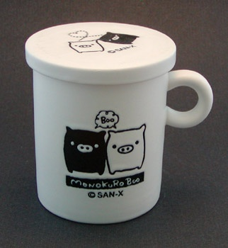 Monokuro Boo Piggy Mug with Lid