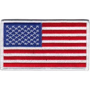 """American Flag Embroidered Patch - Full Color - Approx 2.25"""" x 4"""" - High Quality Embroidered Iron-On Patch"""