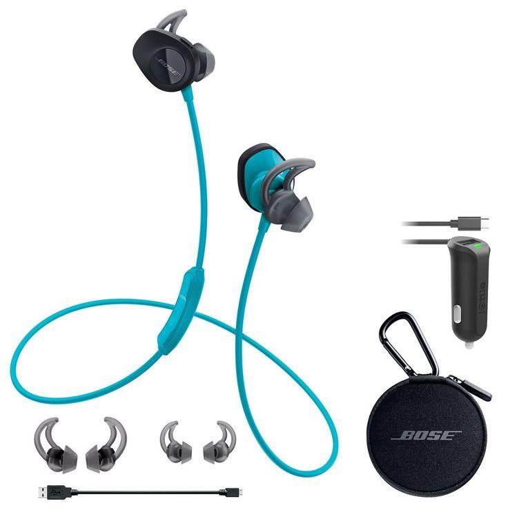 Enter To Win A Bose SoundSport Wireless In-Ear Headphones - Aqua & Car Charger - Bundle [$158]