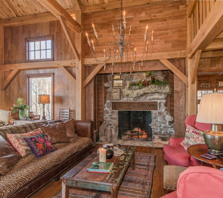 Find This Pin And More On Timber Frame Homes   Interiors.