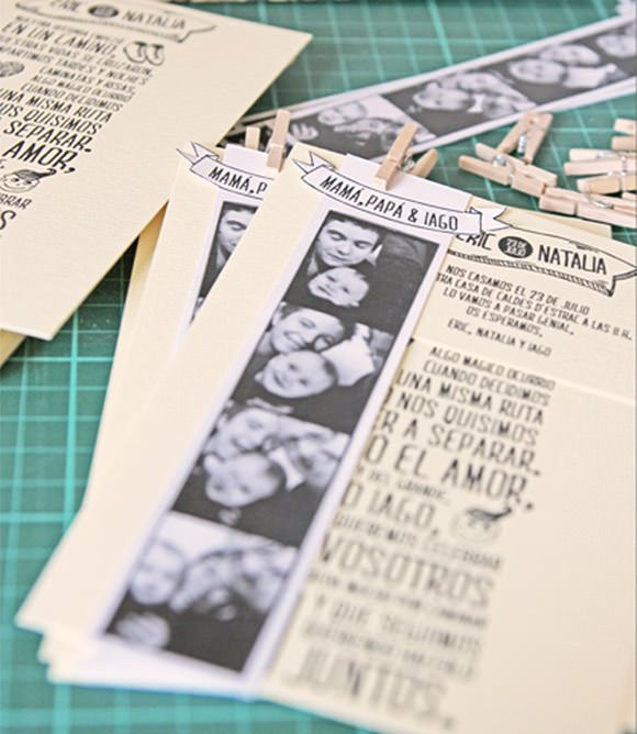 Let's Get This Party Started! Fun Photo Strip Invitation!