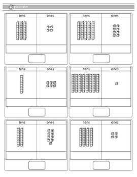 Updated*Now includes 2 free worksheets on two digit place value + 1 blank sheetEnjoy!