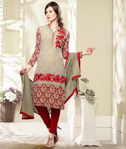 Buy Beige Georgette Kameez With Pant 75461 online at lowest price from huge…