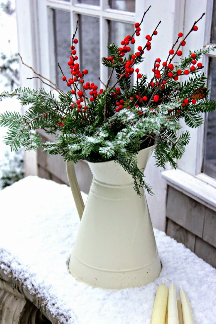 The 25 best christmas flowers ideas on pinterest christmas first touch of winter aiken house gardens christmas garden decorationscottage christmas decoratingchristmas vaseschristmas reviewsmspy