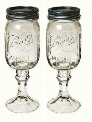 redneck wine glasses... love these