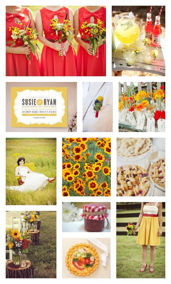 LOVE this color combo....for obvious reasons... :) Color Combo: Tomato Red and Sunshine Yellow  Colors