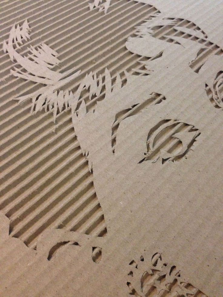 Celebrity Portraits Carved into Corrugated Cardboard ...