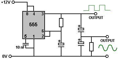 555 2 function generator