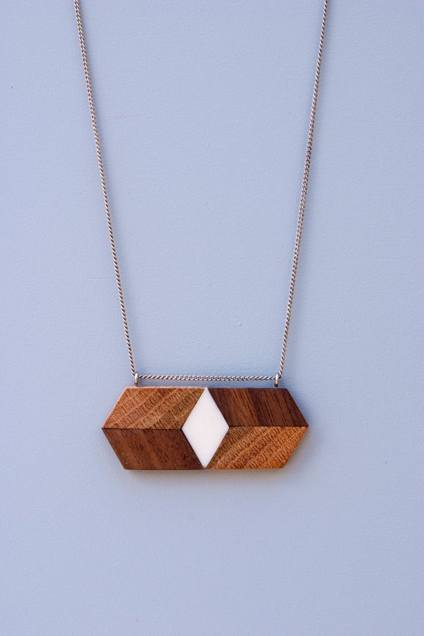 Horizontal Isometric Necklace by Timber Line Jewelry on Great.ly