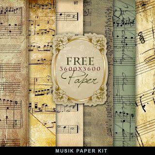 Freebies Music Paper Kit