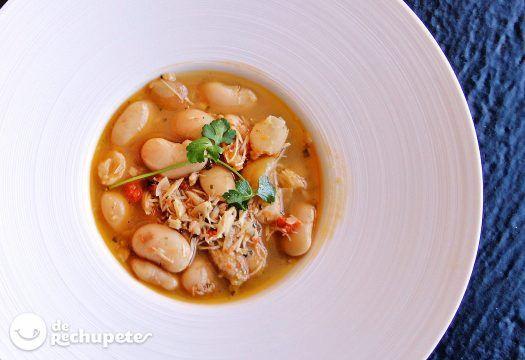 Fabes con centolla - Recetas de rechupete - Recetas de cocina caseras y fáciles