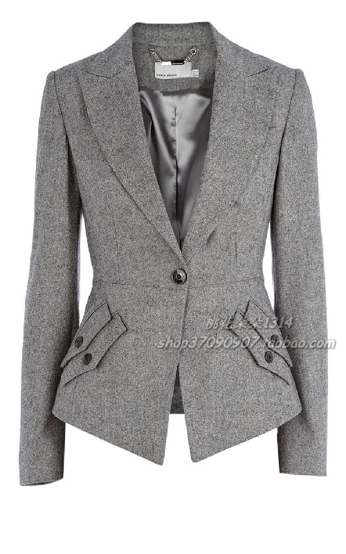 Taobao (Taobao.com) Jackets Women's stylish jacket with one button and Karen Millen - yabaowood.ru