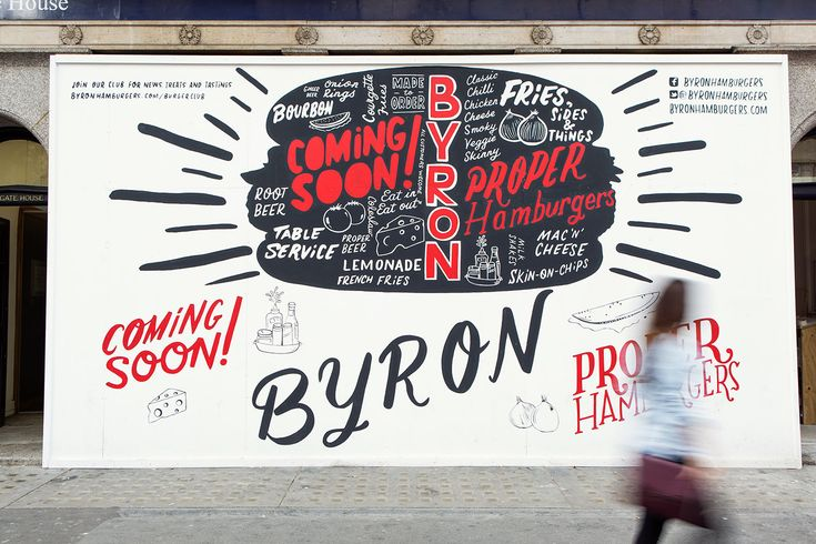 JOEL HOLLAND ::: Commissioned by Charlie Smith Design, Joel Holland has illustrated this temporary hoarding for the soon-to-be-opening Byron Hamburgers in London.